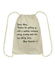 DEAR MOM Drawstring Bag thumbnail