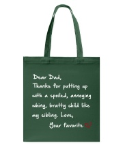 DEAR DAD DARK COLOR Tote Bag thumbnail