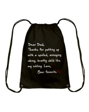 DEAR DAD DARK COLOR Drawstring Bag thumbnail