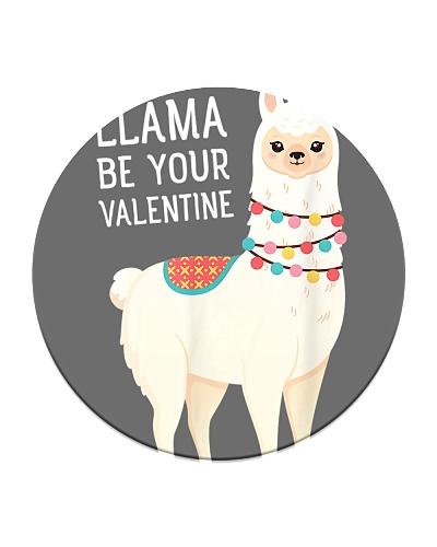 Llama Be Your Valentine Love Valentine's Day