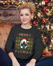 Merry PigMas Crewneck Sweatshirt lifestyle-holiday-sweater-front-2