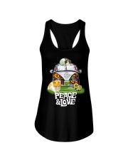 GUINEA PIGS PEACE AND LOVE  Ladies Flowy Tank thumbnail