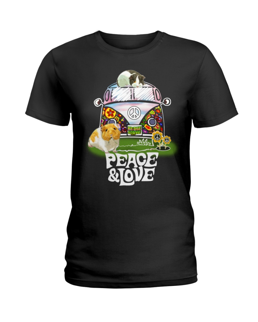 GUINEA PIGS PEACE AND LOVE  Ladies T-Shirt