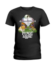 GUINEA PIGS PEACE AND LOVE  Ladies T-Shirt front