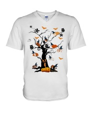 HALLOWEEN HAPPY V-Neck T-Shirt thumbnail