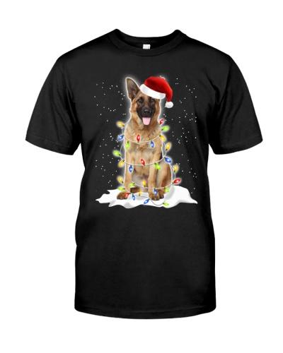 German Shepherd Christmas Lights