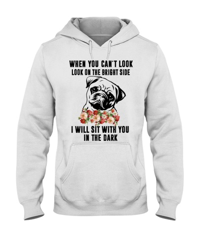 I will sit with you in the dark - Pug tee