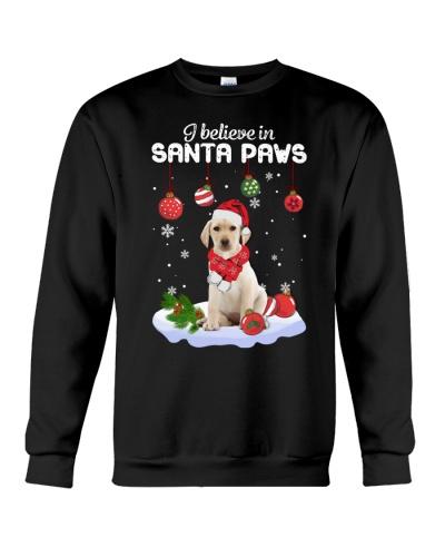 Yellow Labrador Santa Paws