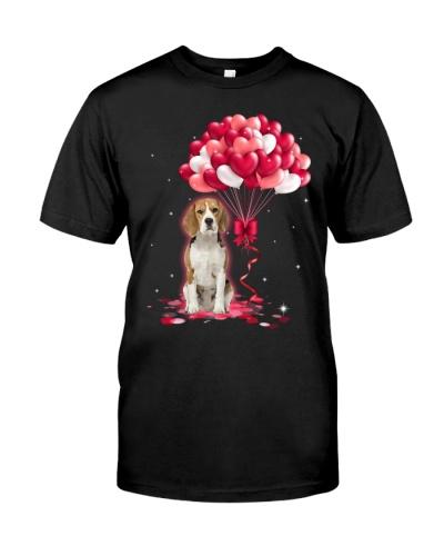 Beagle Love Balloons