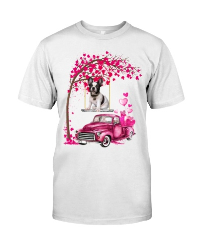 French Bulldog - Tree Love Valentine