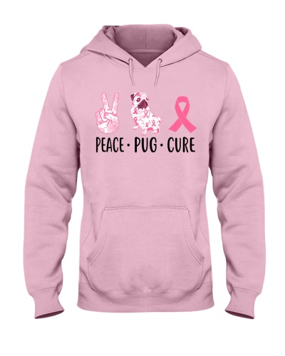 Peace Pug Cure - Pink ribbon
