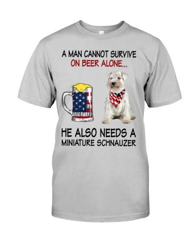 a man cannot survive - Miniature Schnauzer