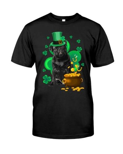 Black Pug Patrick's Day
