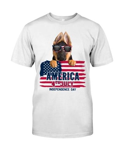 America 4th july - German Shepherd