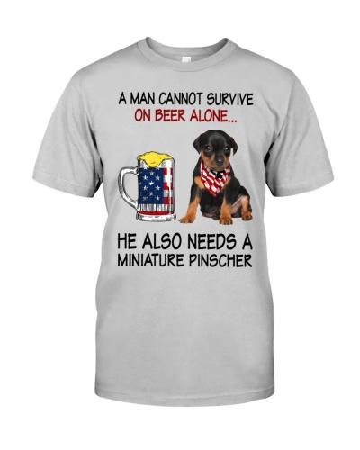 a man cannot survive - Miniature Pinscher