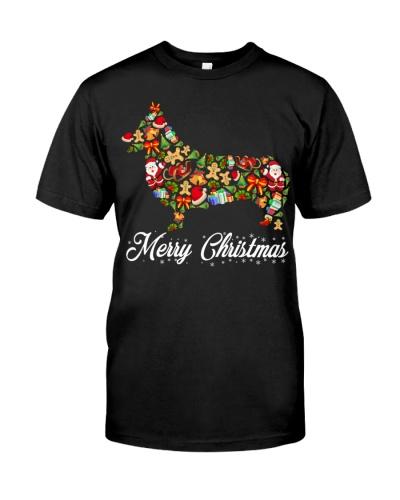 Corgi Merry Christmas elements