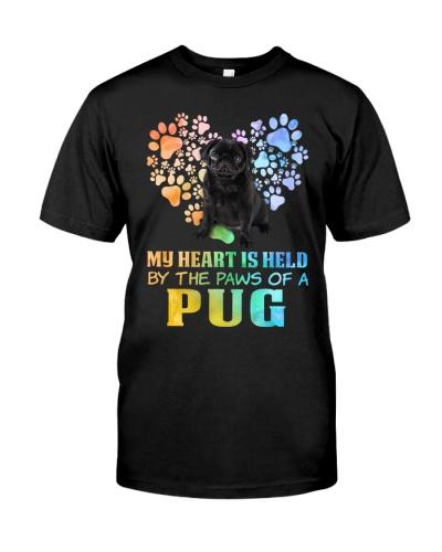 Heart Pug Paw Fill  My Heart Is Held