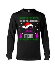 Merry Christmas Kitty Mom Long Sleeve Tee thumbnail