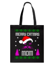 Merry Christmas Kitty Mom Tote Bag thumbnail