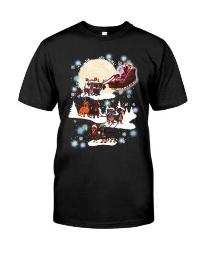 Dachshund Santa and Merry Christmas