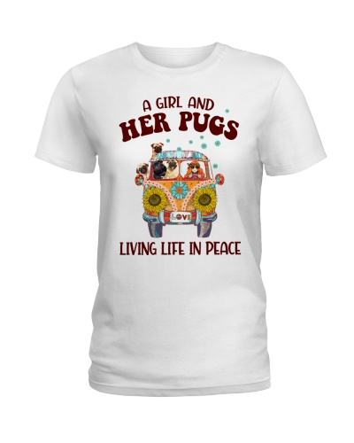 A Girl and Her Pugs Living Life in Peace