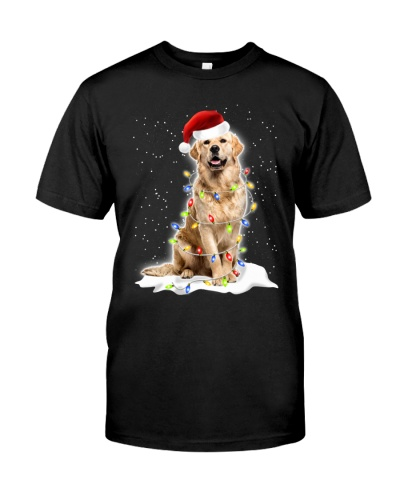 Golden Retriever Christmas Lights