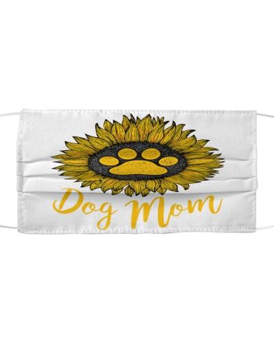 Dog Mom Sunflower Mask