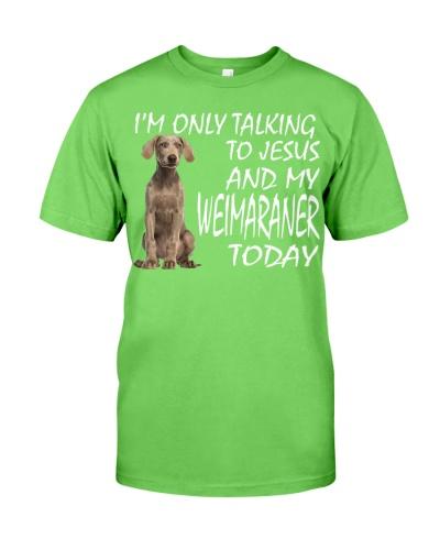 Weimaraner and Jesus