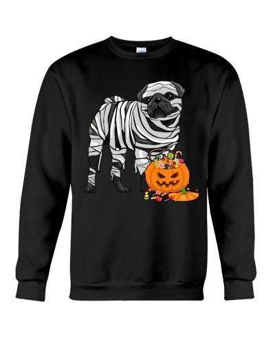 Halloween Pug Mummy Treat or Trick