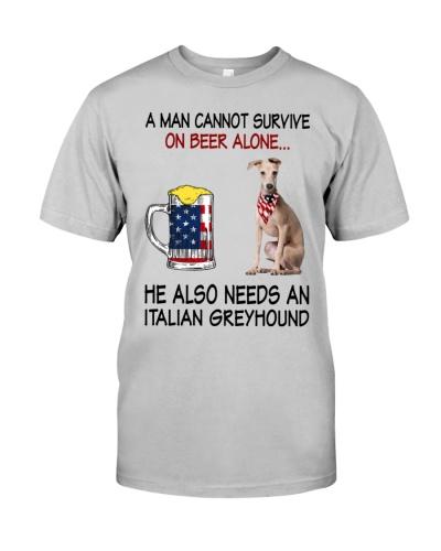 a man cannot survive - Italian Greyhound