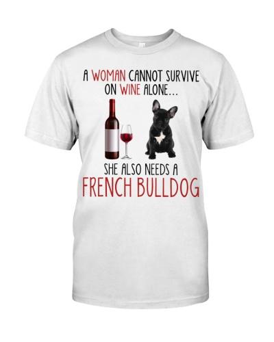 She Also Needs Black French Bulldog