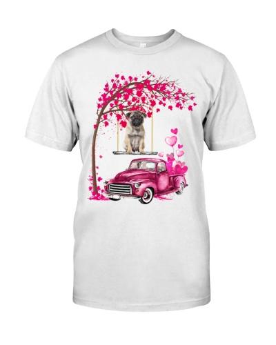 Pug - Tree Love Valentine