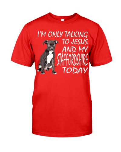 Staffordshire Bull Terrier and Jesus