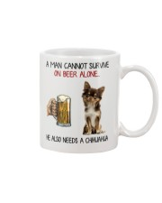A Man cannot survive without Beer and a Chihuahua Mug thumbnail