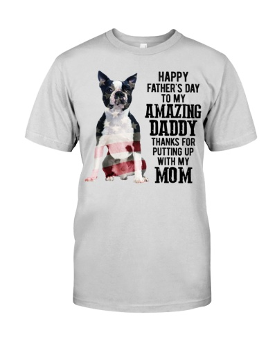 Father Day - Boston Terrier Dog