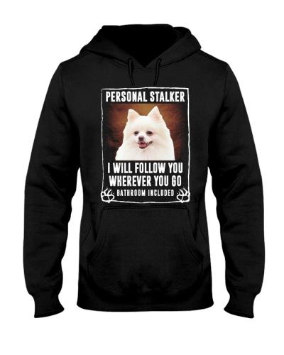 White Pomeranian - Personal Stalker