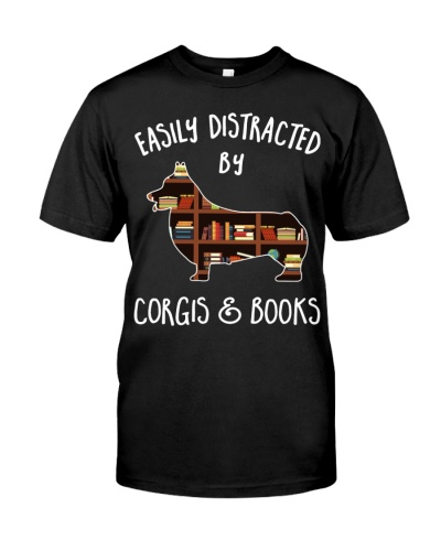 Easily Distracted Corgis and Books