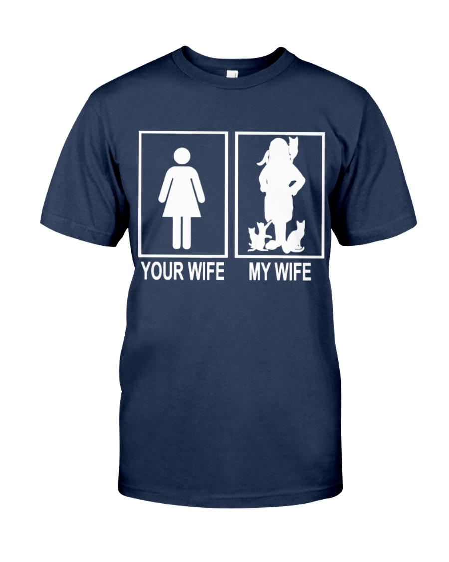 MY WIFE LOVE CATS Classic T-Shirt