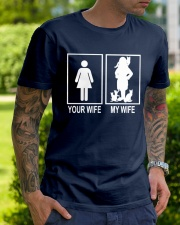 MY WIFE LOVE CATS Classic T-Shirt lifestyle-mens-crewneck-front-7