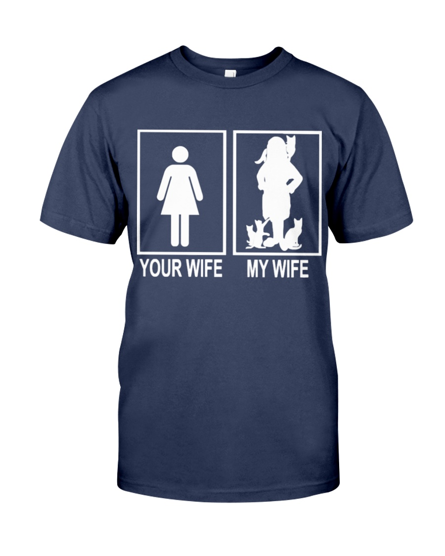 MY WIFE LOVE CATS Premium Fit Mens Tee