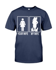 MY WIFE LOVE CATS Premium Fit Mens Tee tile