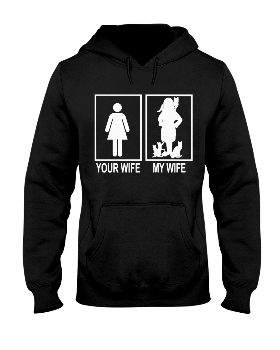 MY WIFE LOVE CATS Hooded Sweatshirt