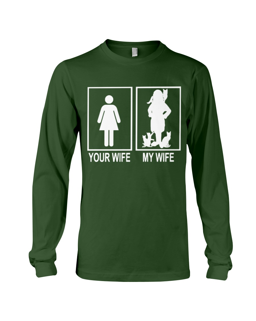 MY WIFE LOVE CATS Long Sleeve Tee