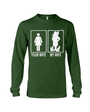 MY WIFE LOVE CATS Long Sleeve Tee front