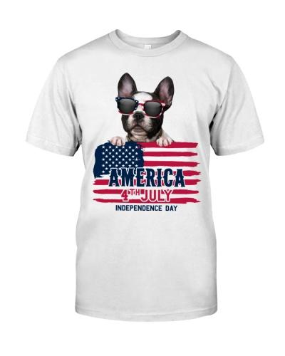 america 4th july - French Bulldog
