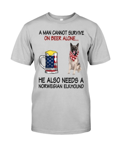 a man cannot survive - Norwegian Elkhound