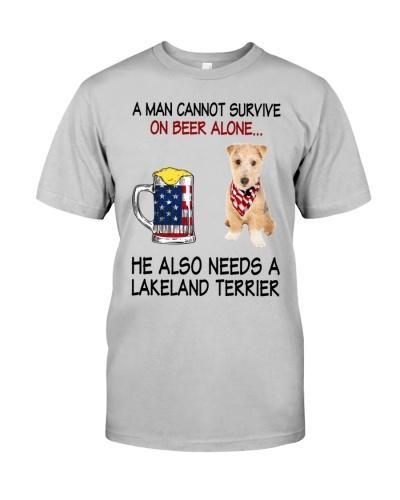 a man cannot survive - Lakeland Terrier