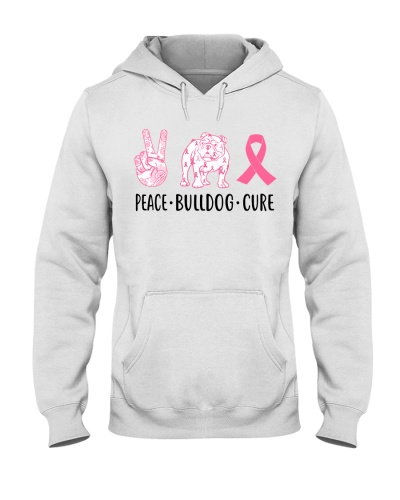Bulldog Peace Cure Pink Ribbon