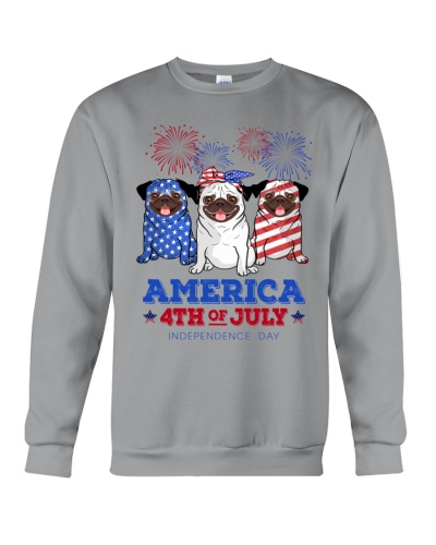 American Independence Day Pug