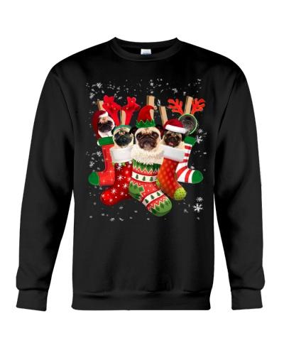 Pug Christmas Socks Funny